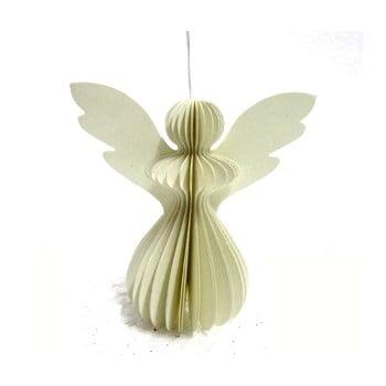 Decorațiune din hârtie pentru Crăciun, formă înger Only Natural, 12,5 x 7,5 cm, gri deschis bonami.ro