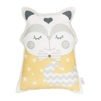 Pernă decorativă Mike & Co. NEW YORK Pillow Toy Smart Cat, 23 x 33 cm, galben bonami.ro