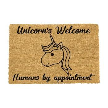 Covoraș intrare din fibre de cocos Artsy Doormats Unicorns Welcome, 40 x 60 cm bonami.ro