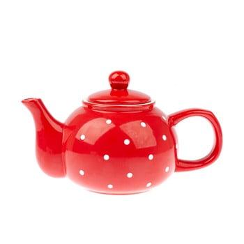 Ceainic din ceramică Dakls Dots, 1 l, roșu bonami.ro