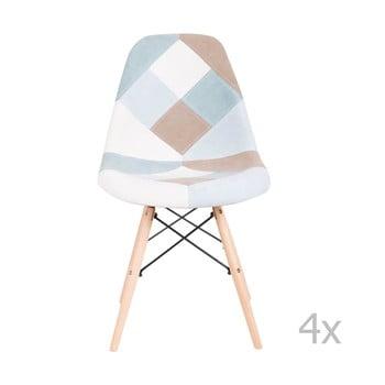 Set 4 scaune sømcasa Karen, albastru poza bonami.ro
