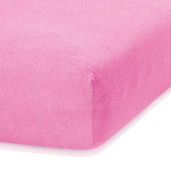 Cearceaf elastic AmeliaHome Ruby, 200 x 120-140 cm, roz închis bonami.ro