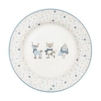 Farfurie din gresie ceramică Green Gate Kids, alb - albastru poza bonami.ro