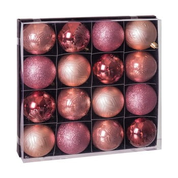 Set 16 decorațiuni de Crăciun Unimasa Copper, roz bonami.ro