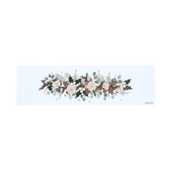 Napron masă din bumbac cu motiv de Crăciun Butter Kings Fir Branches, 140 x 40 cm bonami.ro