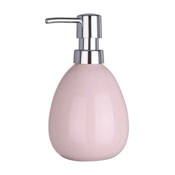 Dozator săpun lichid Wenko Polaris Pink, roz poza bonami.ro