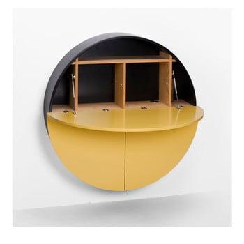 Masă multifuncțională de perete Pill EMKO, negru - galben bonami.ro