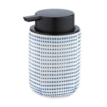 Dozator ceramică pentru săpun Wenko Nole, 300ml, decor alb - albastru bonami.ro