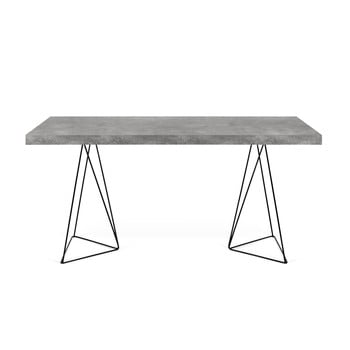 Birou cu picioare metalice TemaHome Multi, decor beton bonami.ro