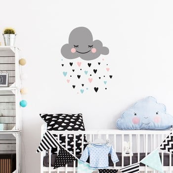 Set autocolante pentru perete Ambiance Cloud bonami.ro
