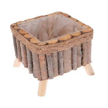 Cutie pătrată din lemn cu picioare Dakls bonami.ro