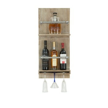 Suport de perete pentru sticle și pahare Mauro Ferretti Pipe Bar, 76 x 34 cm bonami.ro