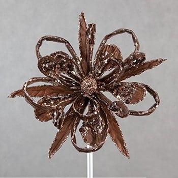 Decorațiune din plastic în formă de floare pentru Crăciun DecoKing Natu, maro poza bonami.ro