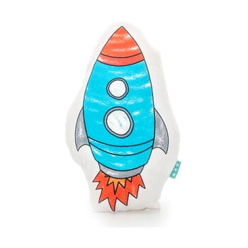 Pernă din bumbac Mr. Fox Space Rocket 40 x 30 cm poza bonami.ro