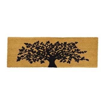 Covoraș intrare lung din fibre de cocos Artsy Doormats Tree Of Life, 120 x 40 cm poza bonami.ro