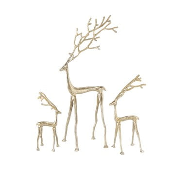Set 3 decorațiuni pentru Crăciun Boltze Frody, auriu bonami.ro