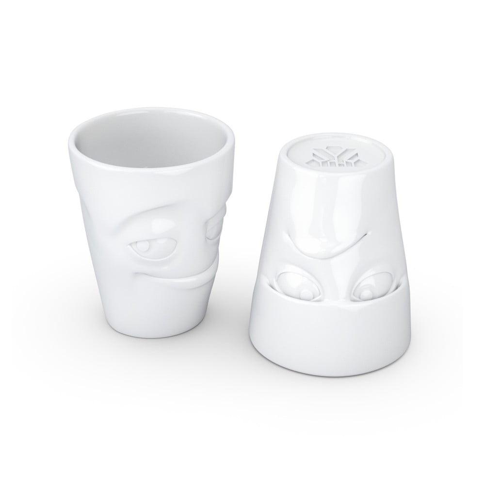 Set 2 căni din porțelan 58products Grumpy & Impish, alb