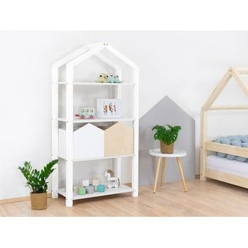 Bibliotecă din lemn pentru copii Benlemi Tally,77,2x39x152,2cm, alb imagine