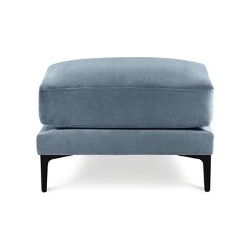 Taburet cu tapițerie din catifea Kooko Home Harmony, albastru deschis imagine