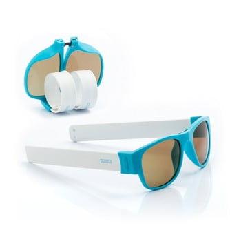 Ochelari de soare pliabili InnovaGoods Sunfold PA2, albastru - alb poza bonami.ro