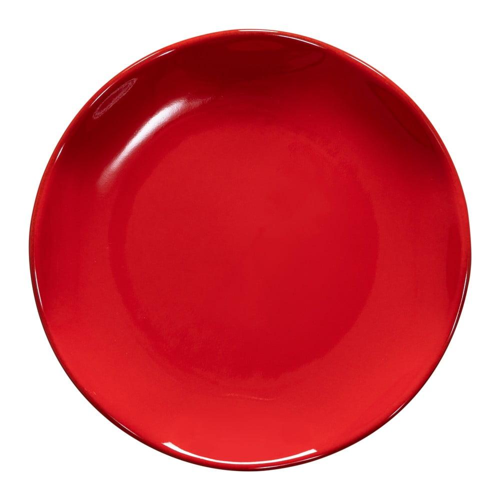 Farfurie din gresie pentru desert Casafina Cook & Host, ø 20,5 cm, rosu