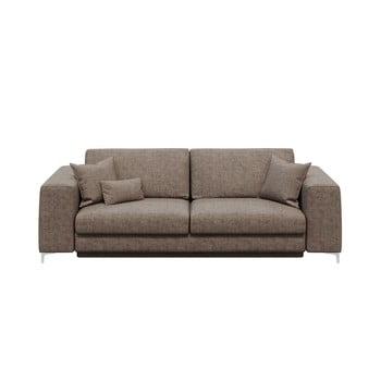 Canapea extensibilă cu 3 locuri devichy Rothe, bej închis poza bonami.ro