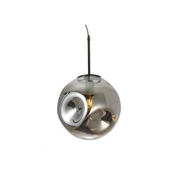 Lustră cu abajur din sticlă suflată Leitmotiv Pendulum, gri imagine