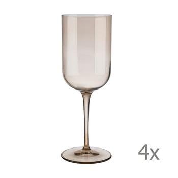 Set 4 pahare pentru vin roșu Blomus Fuum, 400 ml, maro transparent poza bonami.ro