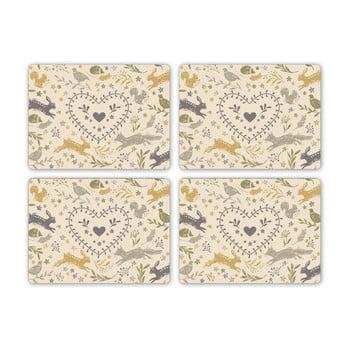 Set 4 suporturi pentru farfurie Cooksmart Woodland, 29 x 21,5 cm