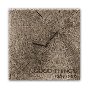 Ceas de perete Styler Glassclock Good Times, 30 x 30 cm bonami.ro