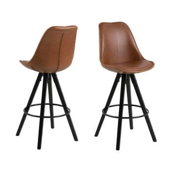 Set 2 scaune de bar Actona Damia, maro poza bonami.ro