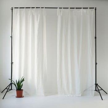 Draperie subțire cu bucle de prindere Linen Tales Daytime, 250x130cm, alb poza bonami.ro