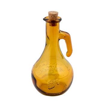 Oțetieră din sticlă reciclată Ego Dekor Di Vino, 500 ml, galben bonami.ro