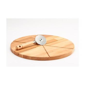 Tocător din lemn și tăietor pentru pizza Bisetti Pizza, ø 35 cm bonami.ro