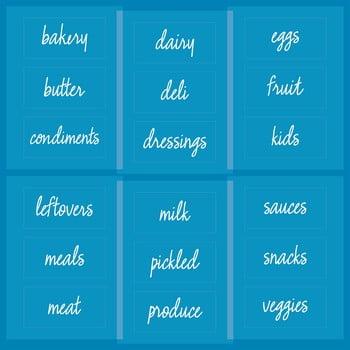 Etichete pentru produsele alimentare congelate iDesign The Home Edit bonami.ro