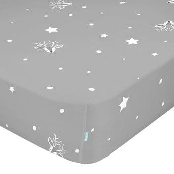 Cearșaf din bumbac pentru copii Moshi Moshi Winter,90x200cm bonami.ro