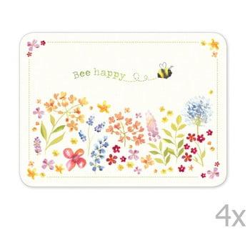 Set 4 suporturi pentru farfurii Cooksmart ® Flowers poza bonami.ro