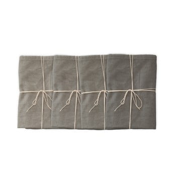 Set 4 șervețele textile Linen Couture Grey, 43 x 43 cm bonami.ro
