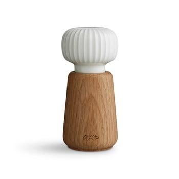 Râșniță din lemn de stejar și porțelan pentru sare/piper Kähler Design Hammershoi, 13 cm, alb poza bonami.ro