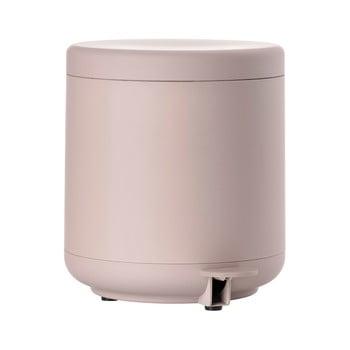 Coș de gunoi cu pedală pentru baie Zone UME, 4 l, roz poza bonami.ro