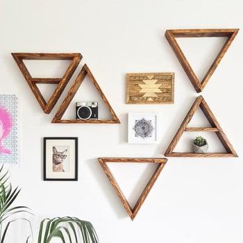 Set 5 rafturi din lemn pentru perete Ava imagine