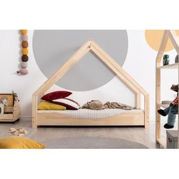 Pat tip căsuță din lemn de pin pentru copii Adeko Loca Elin,70x140cm imagine