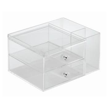 Organizator transparent cu 2 sertare iDesign, înălțime 12,7 cm bonami.ro