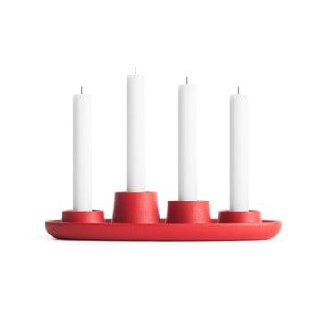 Sfeșnic EMKO Aye Aye Four Candle, roșu poza bonami.ro