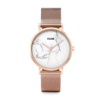Ceas damă, curea oțel inoxidabil Cluse La Roche Mesh, roz - auriu imagine