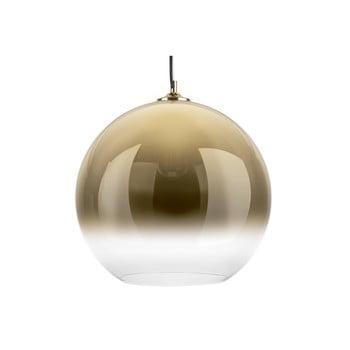 Lustră cu abajur din sticlă Leitmotiv Bubble,ø40 cm, auriu poza bonami.ro