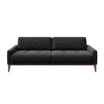 Canapea cu 3 locuri MESONICA Musso Tufted, gri antracit bonami.ro