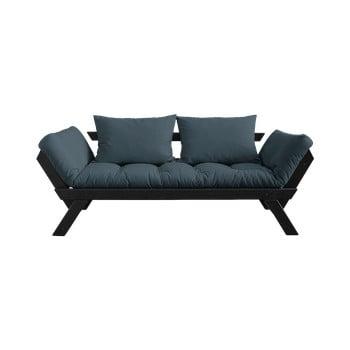 Canapea extensibilă Karup Design Bebop Black, albastru petrol bonami.ro