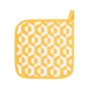 Set 2 șervete termice din bumbac Tiseco Home Studio Hexagon, galben bonami.ro