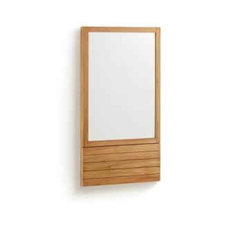 Oglindă cu ramă din lemn de tec La Forma Sunday, 60 x 110 cm imagine